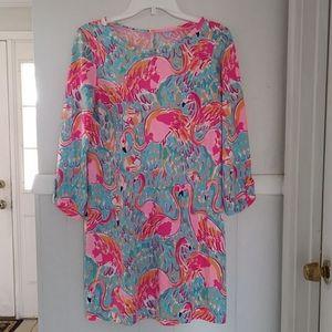Lilly pulitzer pink flamingo sheath dress